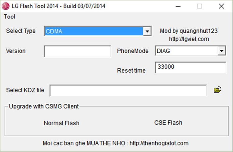 آموزش نصب رام ال جی با برنامه LG Flash Tool 2014