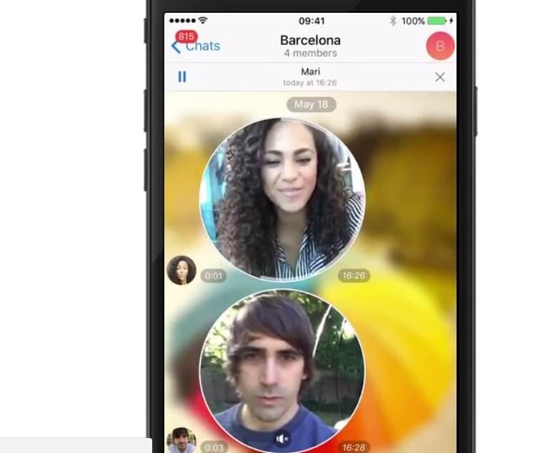 ارسال ویدیو مسیج در تلگرام