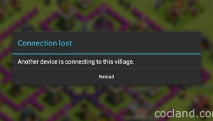 رفع ارور Another device is connecting to this village کلش اف کلنز