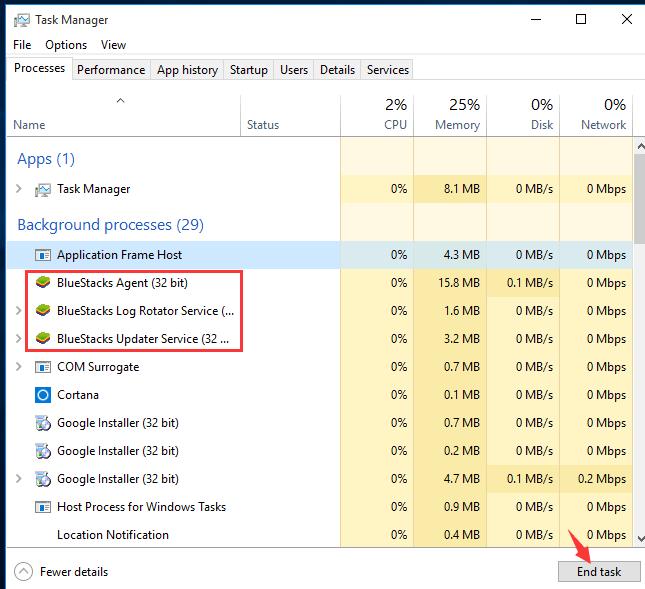 حذف کامل بلو استکس از کامپیوتر – BlueStacks