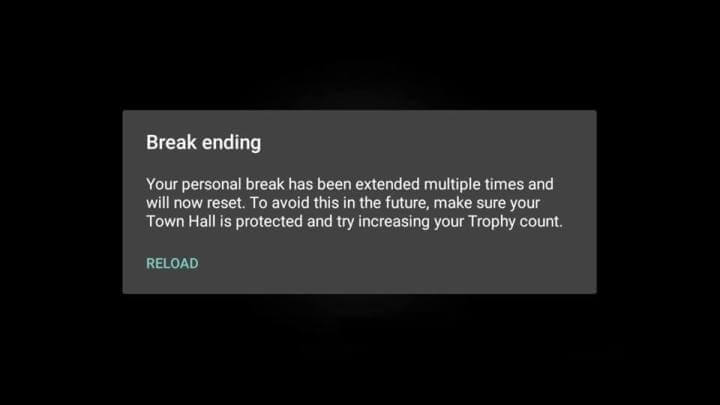 ارور Break ending کلش اف کلنز چیست