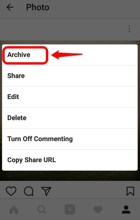 مخفی کردن پست ها در اینستاگرام