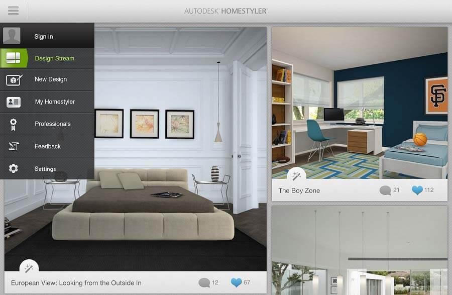 برنامه Homestyler (هوم استایلر)