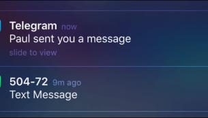 رفع مشکل نشان ندادن پیام جدید تلگرام