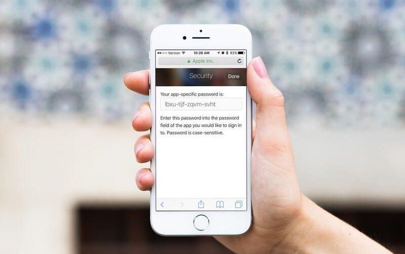 آموزش فعال کردن قابلیت App-Specific Password در موبایل کمک