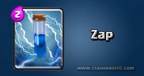 معرفی کارت های بازی کلش رویال ؛ کارت Zap یا زپ