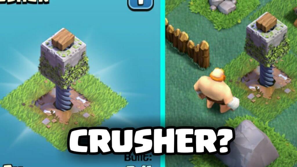 اتک به سنگ شکن (Crusher) در Builder Base کلش اف کلنز