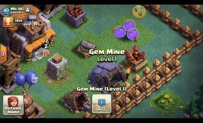 بازسازی معدن جم در کلش اف کلنز (Gem Mine)