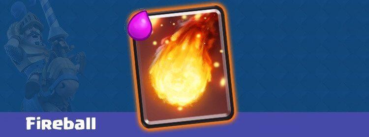 معرفی کارت های کلش رویال ؛ کارت Fireball یا فایربال