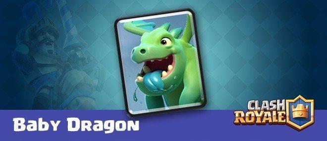معرفی کارت های کلش رویال ؛ کارت Baby Dragon یا بی بی دراگون