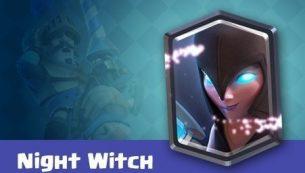 معرفی کارت های کلش رویال ؛ کارت Night Witch یا نایت ویچ