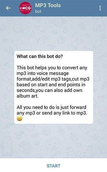 ربات تبدیل ویس به mp3 معرفی ربات تلگرام Mp3Toolsbot ؛ تبدیل MP3 به ویس (Voice ...