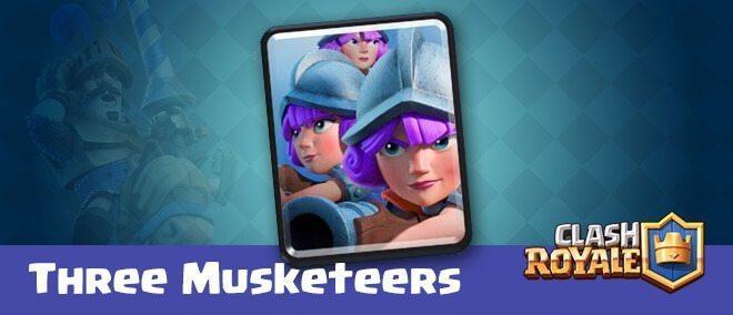 معرفی کارت های کلش رویال ؛ کارت سه تفنگدار یا Three Musketeer