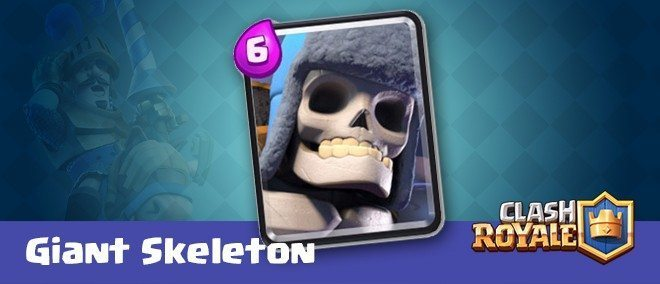 معرفی کارت های کلش رویال ؛ کارت جاینت اسکلت یا Giant Skeleton