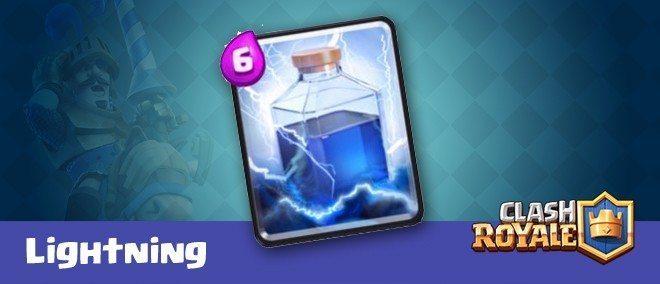 معرفی کارت های کلش رویال ؛ کارت رعد و برق یا Lightning