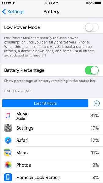 فعال کردن نمایش درصد شارژ باتری اپل