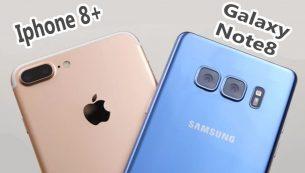آیفون ۸ پلاس اپل بهتر است یا گلکسی نوت ۸ سامسونگ؟