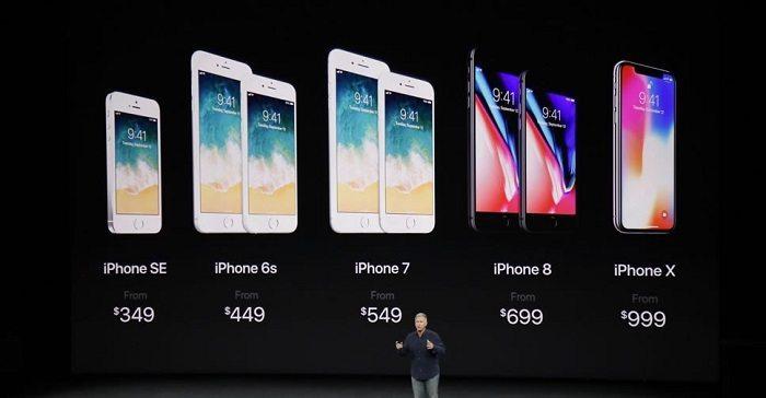 مقایسه قیمت آیفون X، آیفون 8 و آیفون 8 پلاس