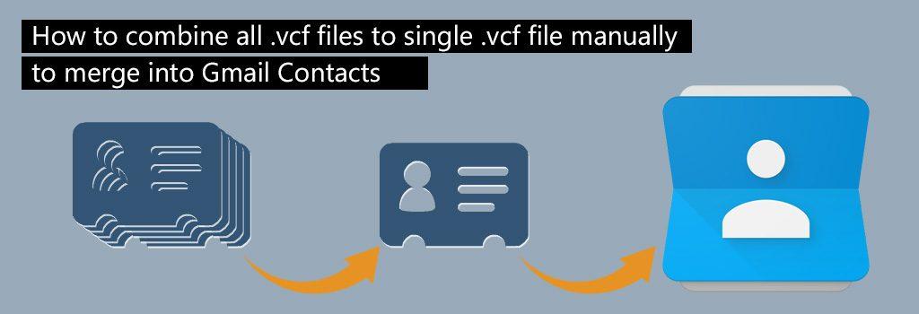 آموزش ادغام چند فایل vcf و یکی کردن آن ها