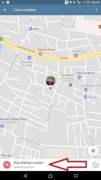 آموزش استفاده از لایو لوکیشن تلگرام (Live Location)