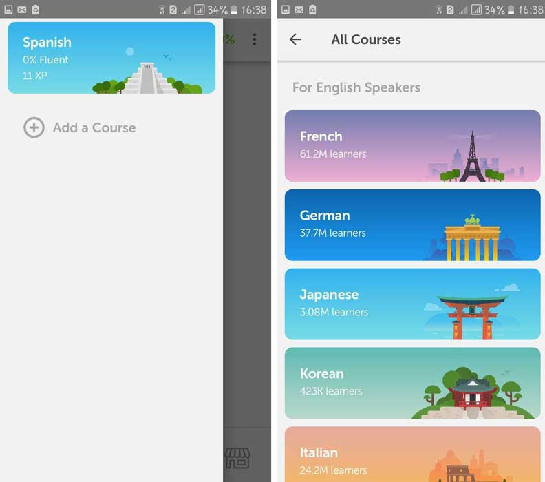 برنامه Duolingo (دولینگو)