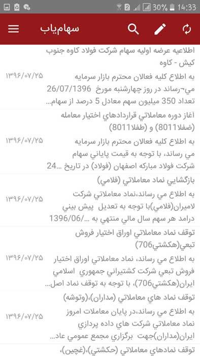 برنامه سهام یاب (Sahamyab)