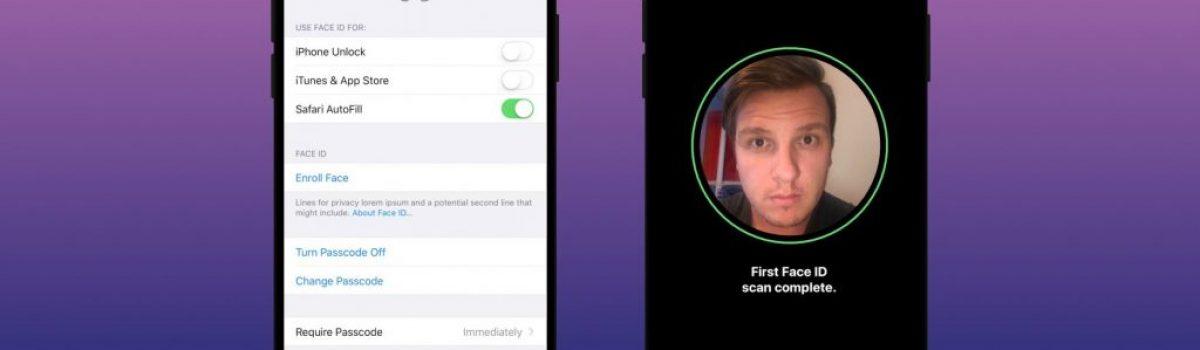 آموزش راه اندازی Face ID (تشخیص چهره) آیفون X و استفاده از آن