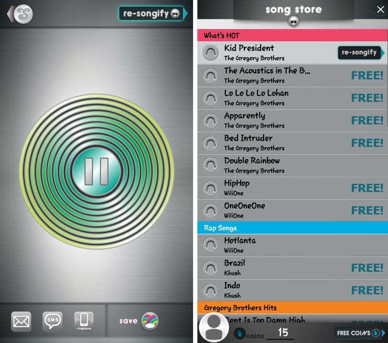 برنامه Songify