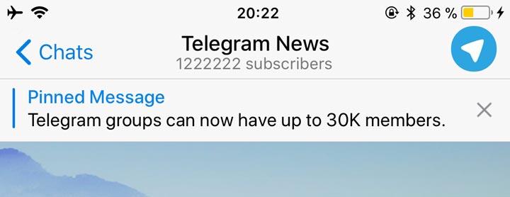 آپدیت تلگرام 4.5 منتشر شد؛ ذخیره پیام ها و پین پیام در کانال