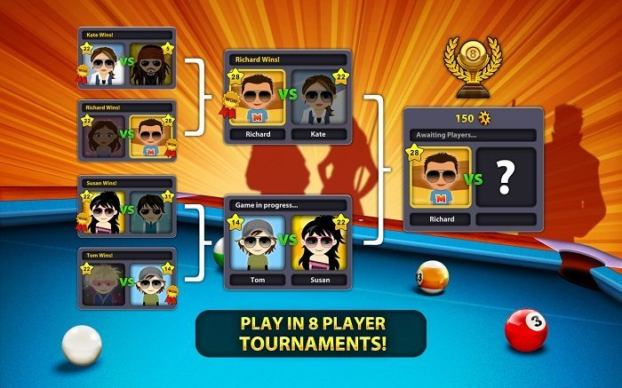 بررسی و دانلود بازی 8 Ball Pool : بیلیارد آنلاین ایت بال