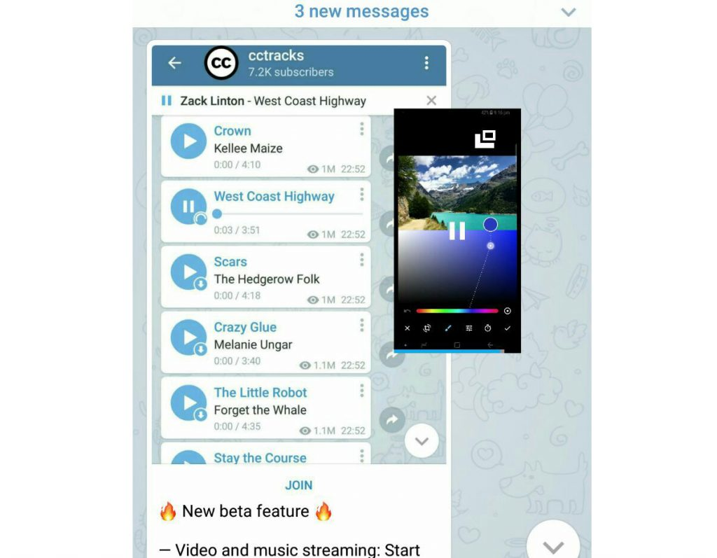 آپدیت تلگرام 4.8