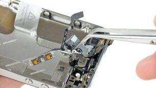 تعمیرات آیفون: تعویض سیم دکمه ولوم آیفون ۴ اپل