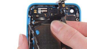 تعمیرات آیفون: تعویض سیم دکمه پاور و ولوم آیفون ۵C اپل