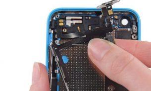 آموزش تعویض سیم دکمه پاور و ولوم آیفون ۵c اپل + ویدیو
