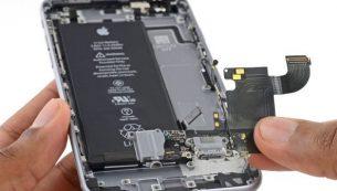 آموزش تعویض سوکت شارژ آیفون ۶ اس اپل