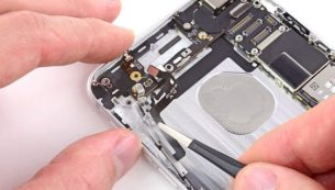 آموزش تعویض سیم دکمه ولوم آیفون ۶ پلاس اپل