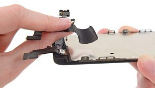آموزش تعویض دوربین سلفی آیفون ۵C اپل