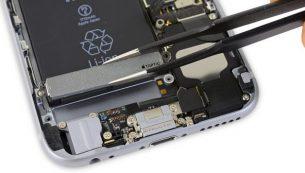 آموزش تعویض موتور ویبره آیفون ۶ اس اپل