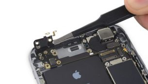 آموزش تعویض فلت آنتن آیفون ۶ اس اپل
