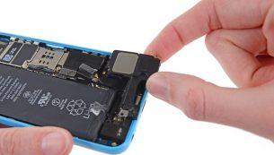 تعمیرات آیفون: تعویض اسپیکر آیفون ۵ سی اپل