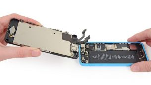 تعمیر آیفون: تعویض ال سی دی آیفون ۵C اپل