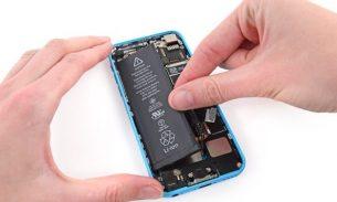 آموزش تعویض باتری آیفون ۵ سی اپل + ویدئو
