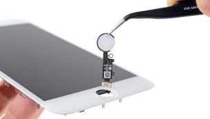 آموزش تعویض دکمه هوم آیفون ۸+ اپل (تاچ آیدی) اپل