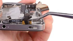 آموزش تعویض دکمه پاور آیفون ۴s اپل