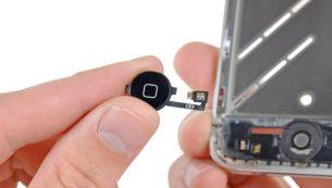 تعمیرات آیفون: تعویض دکمه هوم آیفون ۴ اپل