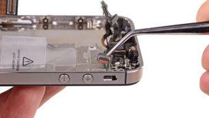 تعمیر آیفون: تعویض دکمه سایلنت آیفون ۴s اپل