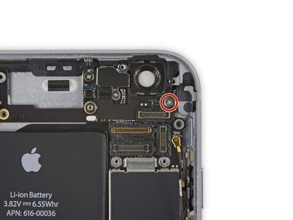 پیچ 1.3 میلیمتری نگهدارنده براکت NFC که در عکس با رنگ قرمز مشخص شده را باز کنید.