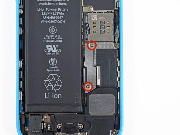 تعمیر آیفون : تعویض اسپیکر مکالمه آیفون 5 سی (iPhone 5c)