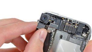 تعمیر آیفون: تعویض دوربین اصلی آیفون ۴ اپل