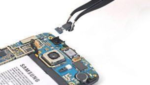 آموزش تعویض دوربین سلفی گوشی گلکسی اس ۶